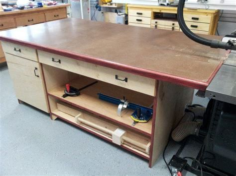 table saw outfeed table ideas outfeed for the table saw by hotncold