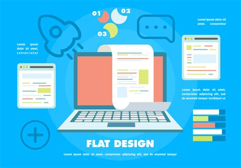 free flat digital marketing vector background with touch