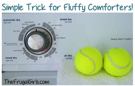 Fluffing Comforters With Tennis Balls The Frugal Girls
