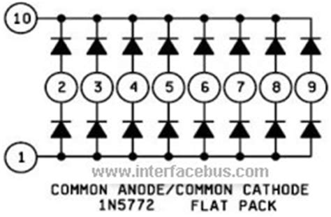 resistor diode array glossary of electronic diode array types flat pack