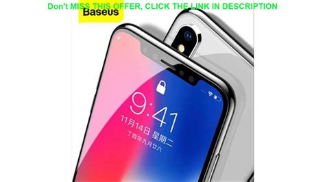 baseus mm screen protector tempered glass