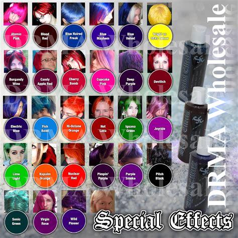 colorists special effects 2 semi permanent vegan hair dye 4 pack merch2rock alternative clothing