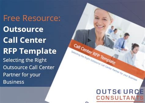 Call Center Request For Proposal Template Rfp Outsource Consultants Call Center Rfp Template