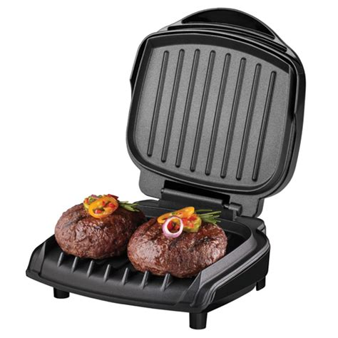 George Foreman GR10B 2 Serving Classic Plate Grill   Black