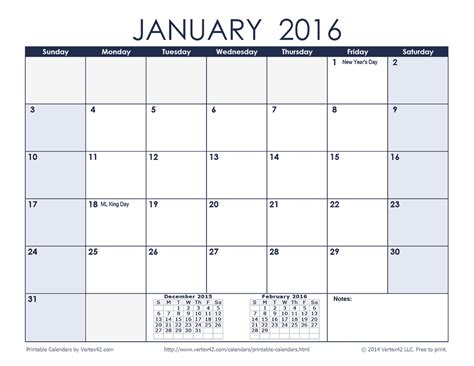 printable daily planner vertex 2016 calendar month