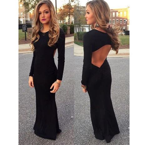Vacia Simply Black S M Dress 2016 simple black mermaid prom dresses open back