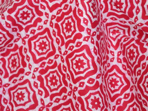 printable cotton fabric red batik print cotton fabric block printed by yard