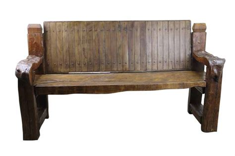 rustic wooden bench mesquite free form bench mexican rustic furniture and