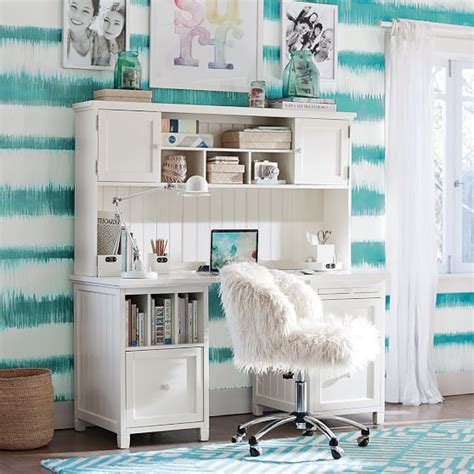 desks for teenage bedrooms ivory furlicious wingback desk chair pbteen