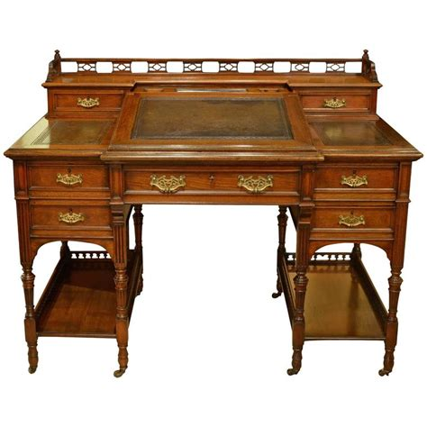 19th century walnut bankers desk for sale at 1stdibs