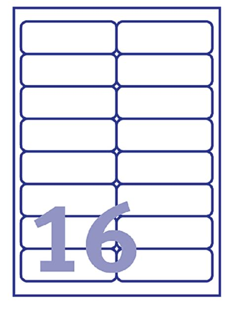 label template j8162 etiket avery j8162 100 99 1x33 9mm wit 1600stuks