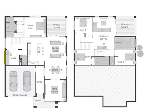floor plan friday split level rear