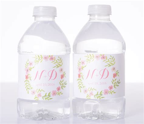 wedding water bottle labels garden wedding vintage wedding water bottle labels
