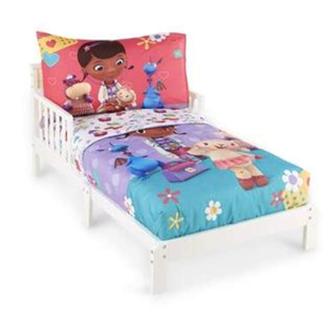 doc mcstuffin toddler bed disney doc mcstuffins toddler girl s 4 piece bedding set