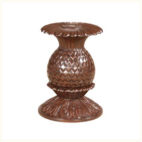 pineapple base dining table nassau dining base reproduction burma teak carved