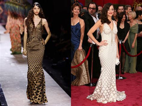 Marion Cotillards Oscar Dress From Runway To Carpet inspired dresses 400 popsugar fashion
