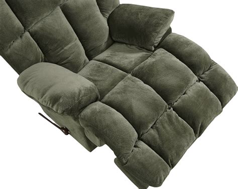 catnapper cloud 12 recliner cloud 12 chaise rocker recliner in chocolate microfiber by