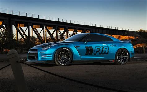 nissan sports car blue wallpapers nissan gt r tuning sport car coupe