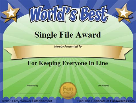 silly certificates awards templates humorous awards ideas certificates award ideas