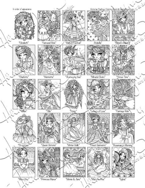 victorian darlings coloring book instant