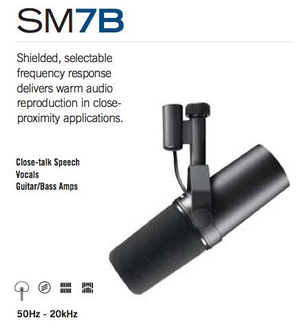 Shure Sm7b shure sm7b vocal dynamic microphone cardioid ca