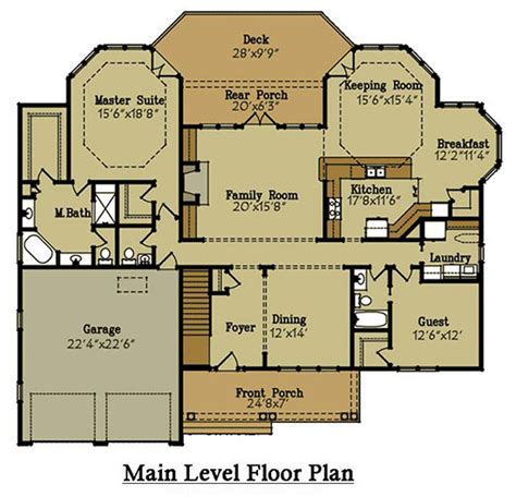 lake house floor plans brick lake house plan with an open living floor plan