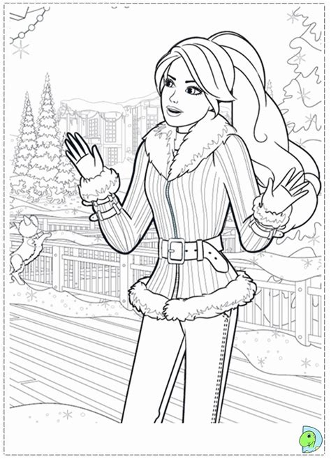 barbie christmas coloring pages many interesting cliparts