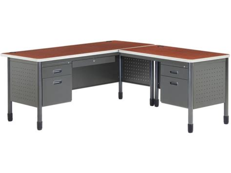mesa l shaped desk with right return msa 6729r office desks