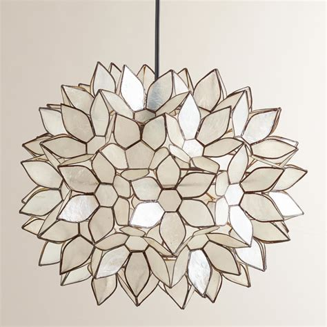 lotus flower pendant light large capiz lotus hanging pendant lantern contemporary