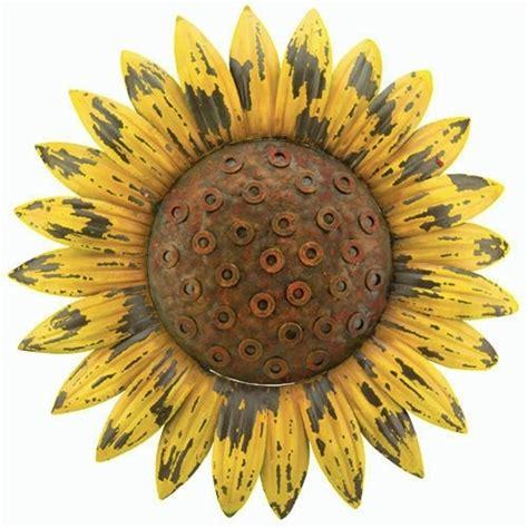 sunflower rustic flower wall metal garden