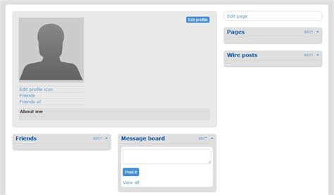 how to make static profile pages in elgg arvixe