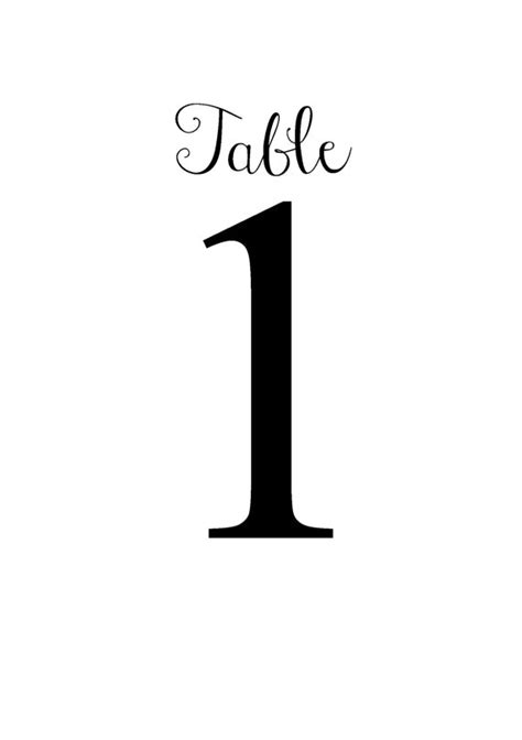 free table number templates table number template clipart best