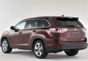 Toyota Highlander Colors 2017 Toyota Highlander Colors News Auto Suv