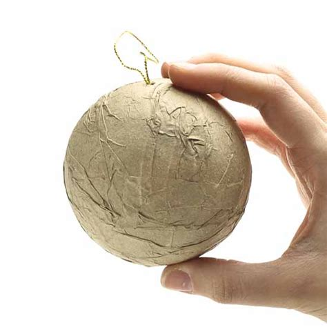 How To Make Paper Mache Ornaments - textured paper mache ornament paper mache basic