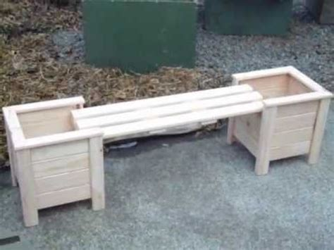 how to build a planter box bench planter boxes with bench youtube