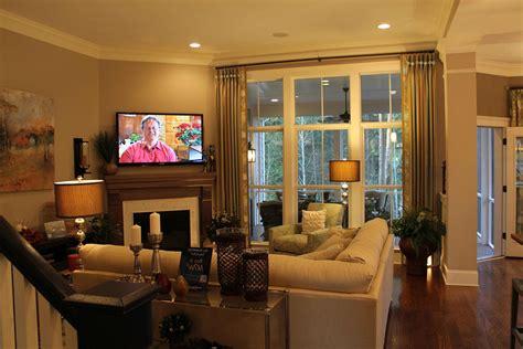 decorating corner fireplace  walkway living room