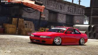 S14 Nissan by Nissan S14 Zenki Stance Replace Tuning Gta5
