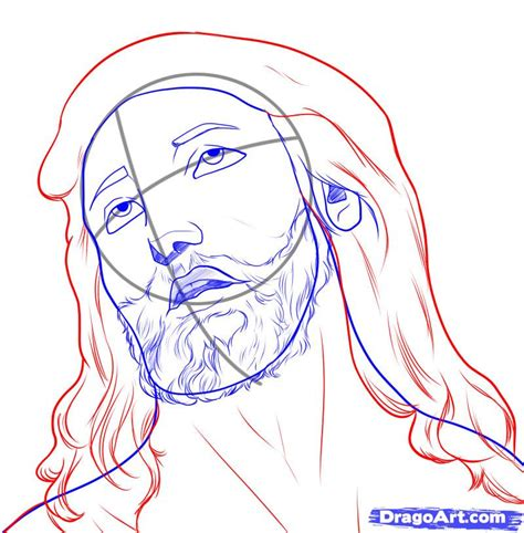 Easy To Draw Jesus by How To Draw Jesus Step By Step Free Drawing Tutorial Added By