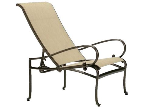 Tropitone Radiance Sling Cast Aluminum Lounge Chair 450420 Aluminum Sling Patio Chairs