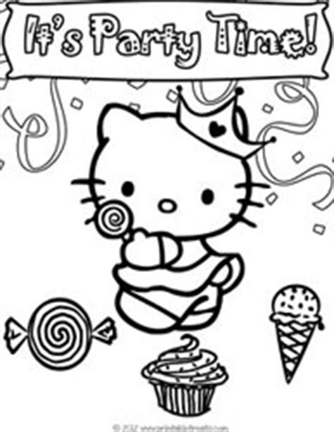 hello kitty new year coloring pages hello kitty birthday coloring pages to print printable