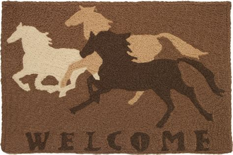 Hcjbhc041 Welcome Horses Western Accent Rug Outdoor Rugs For Horses