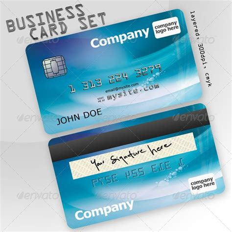 credit card business card template 10 cool credit card business cards for a unique brand