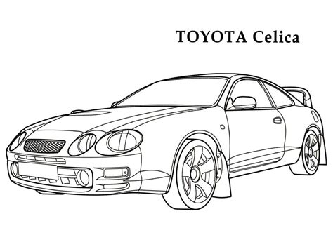 Page Toyota Car Toyota Celica 187 Coloring Pages