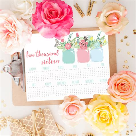 At A Glance Calendar 2016 I Should Be Mopping The Floor Free Printable 2016