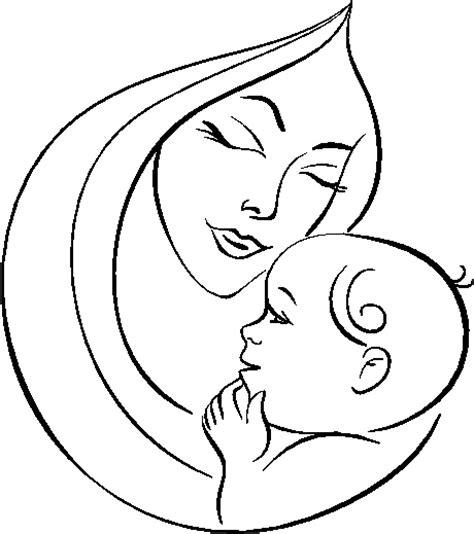 imagenes a lapiz para una madre dia de las madres para colorear