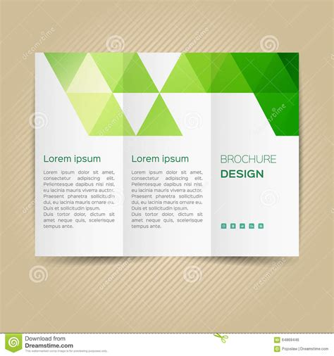 leaflet page layout vector template for leaflet stock vector image 64869446