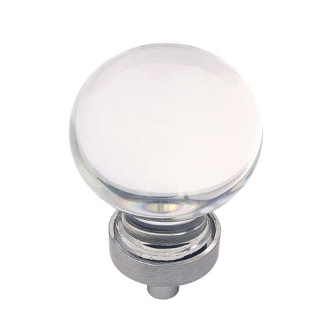 Knobs Coupon Code by Hickory Hardware Gemstone Knob 1 3 8 Quot Dia Clear Glass