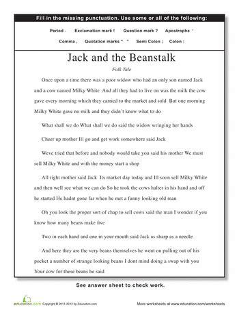 Set Gamis Masha No 5 5 6thn punctuation 4th grade worksheets education