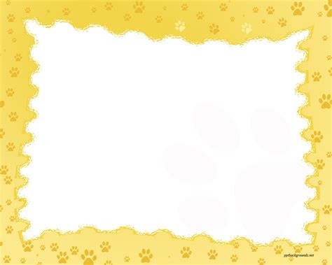 powerpoint templates with borders free paw prints border backgrounds for powerpoint border