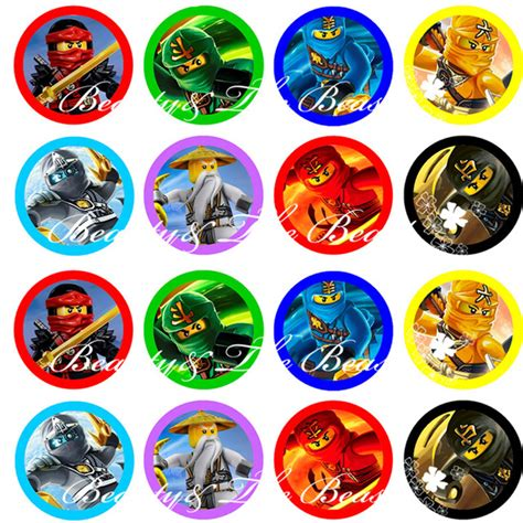 printable ninjago stickers aliexpress com buy ninjago stickers ninjago cupcake